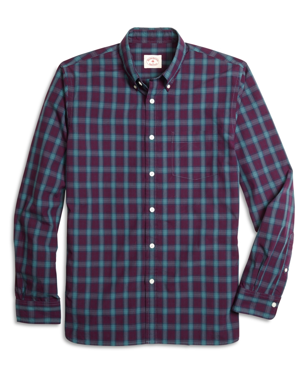 Lyst Brooks Brothers Burgundy And Green Plaid Sport