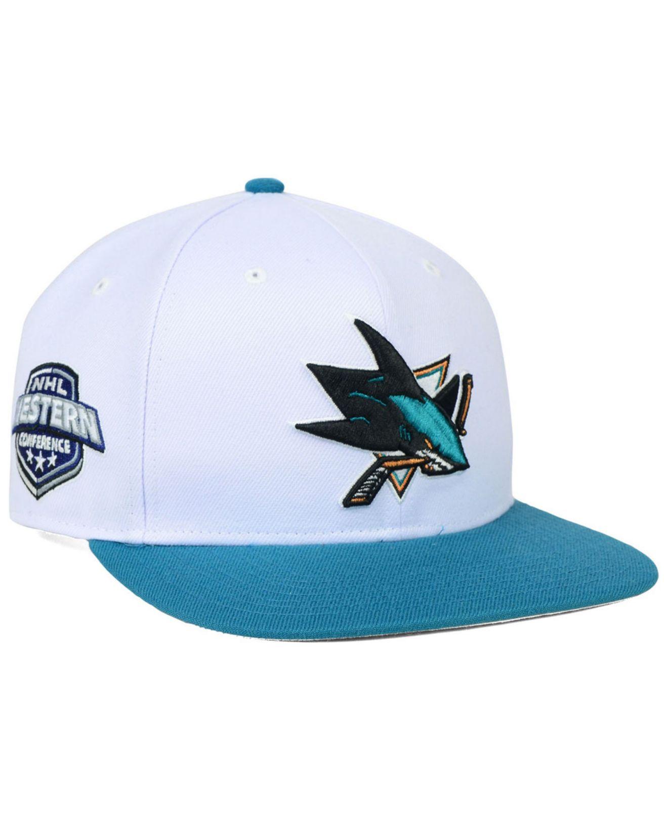 55cc84fe840559 47 Brand San Jose Sharks Sure Shot 2-tone Snapback Cap in White for ...
