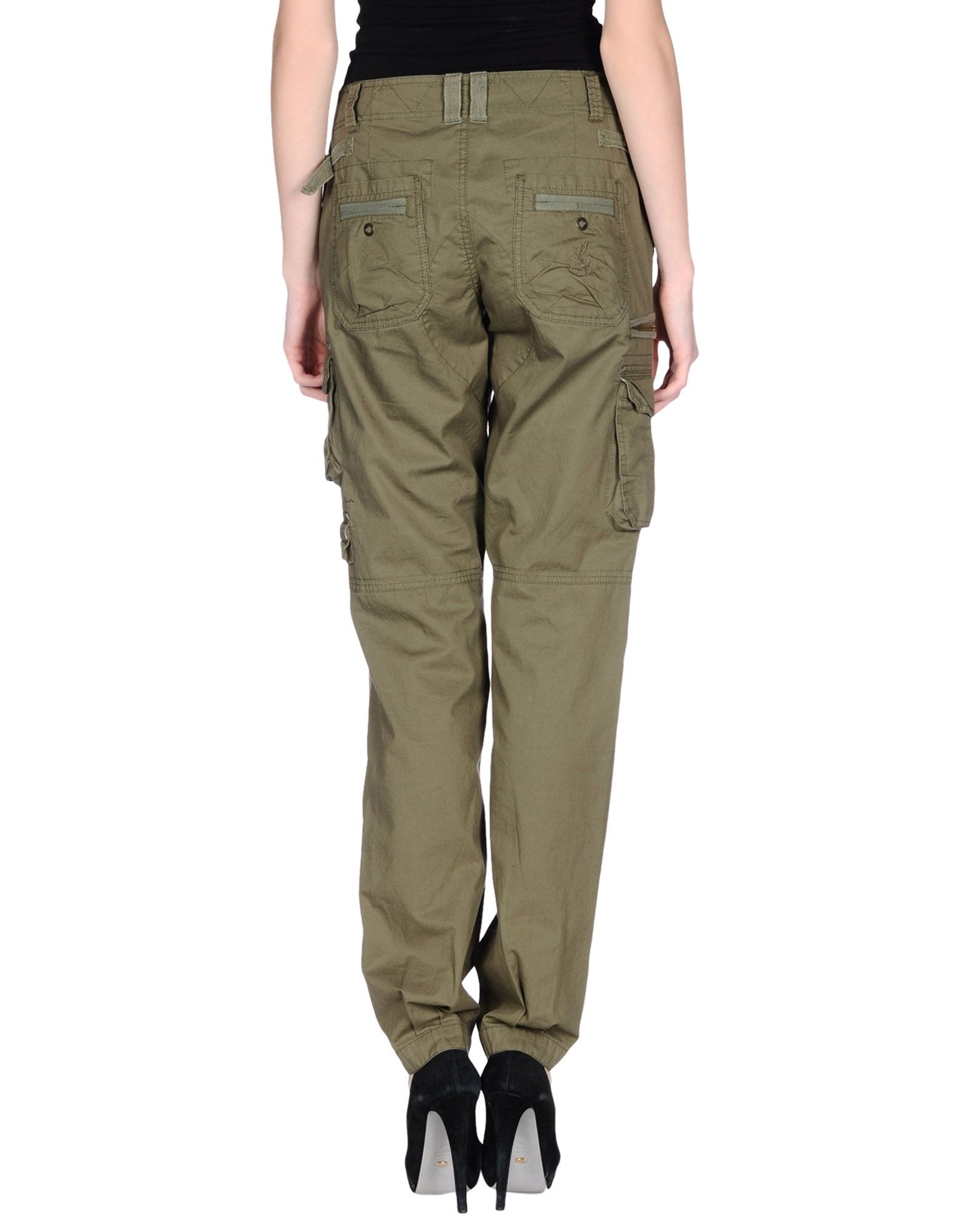Pepe Jeans Cotton Casual Pants in Military Green (Green)
