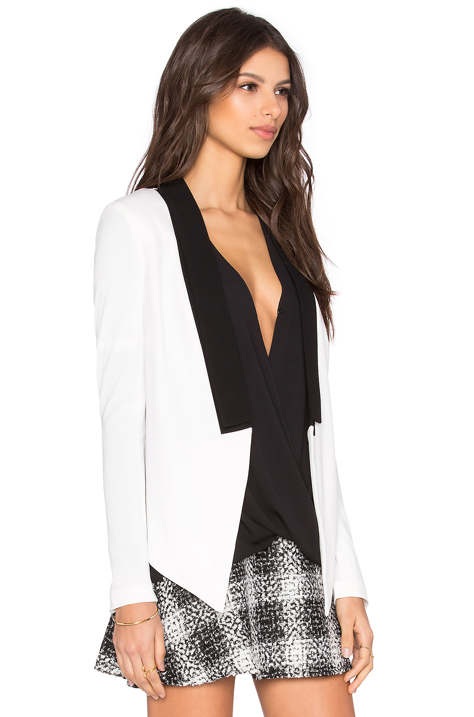 Lyst Bcbgeneration Color Block Blazer In White