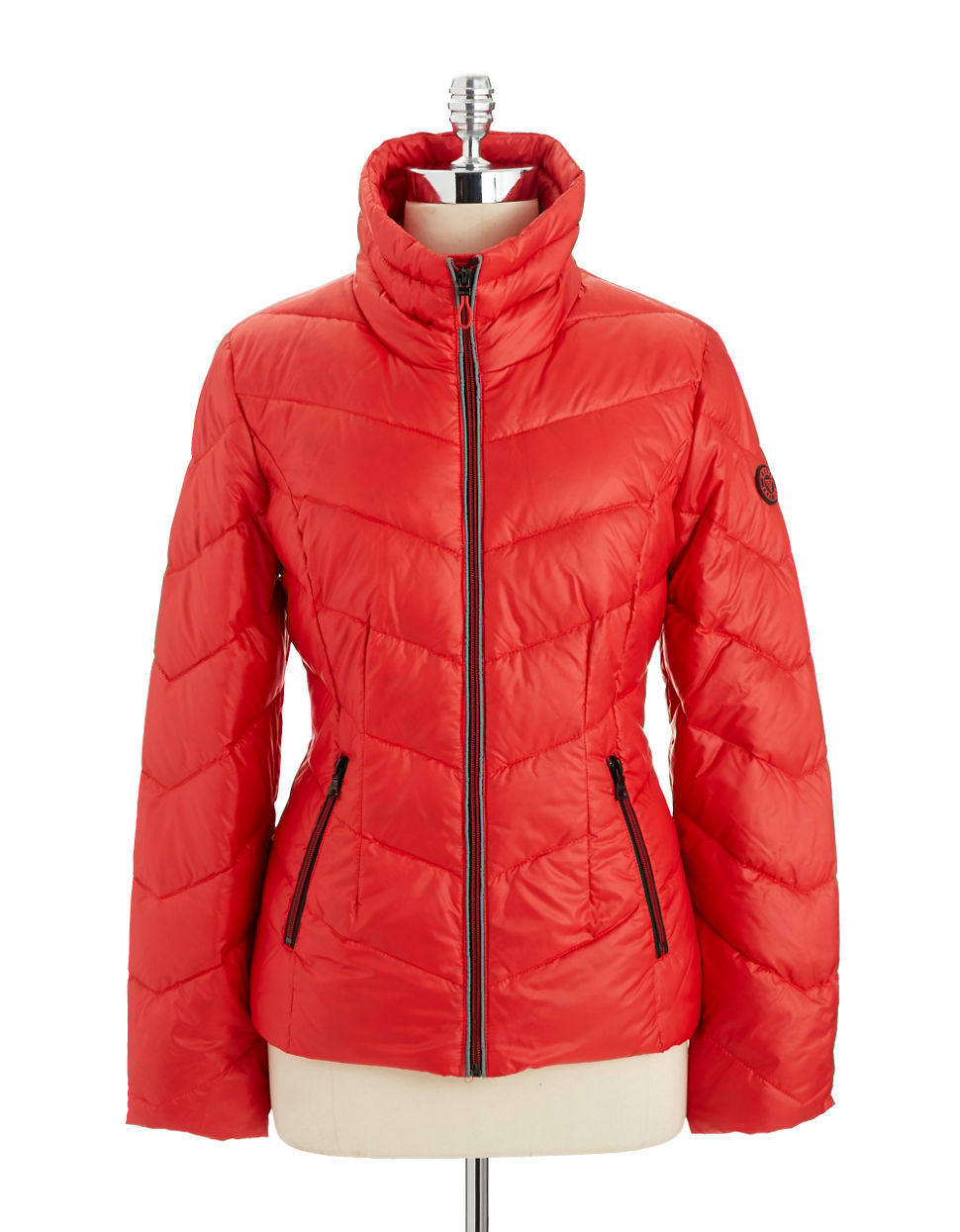 Guess Puffer Jacket In Red Lyst