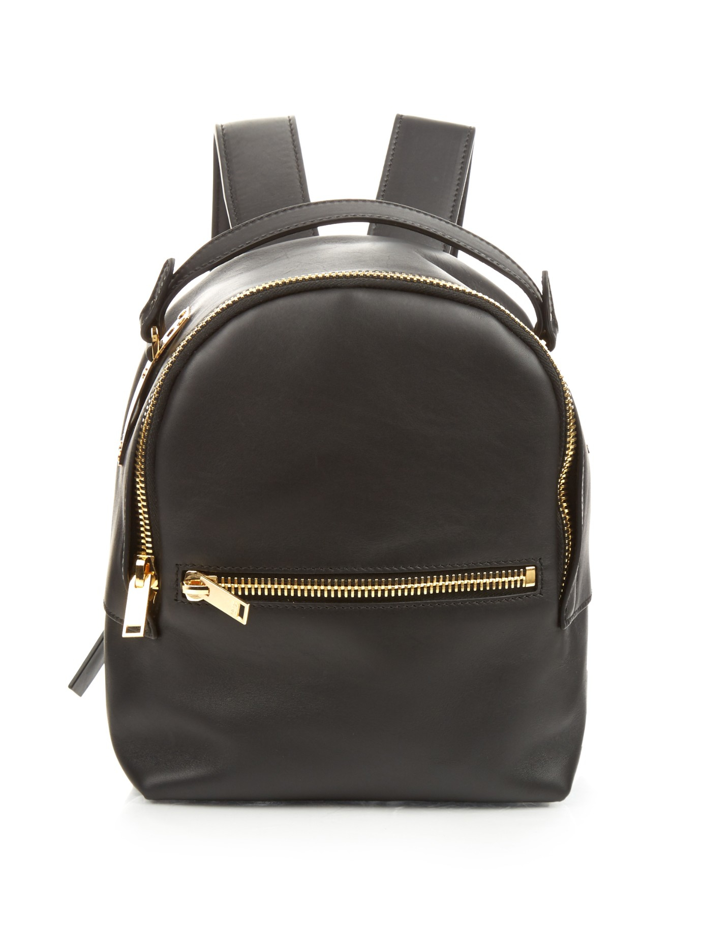 Sophie Hulme Wilson Mini Leather Backpack In Black Lyst