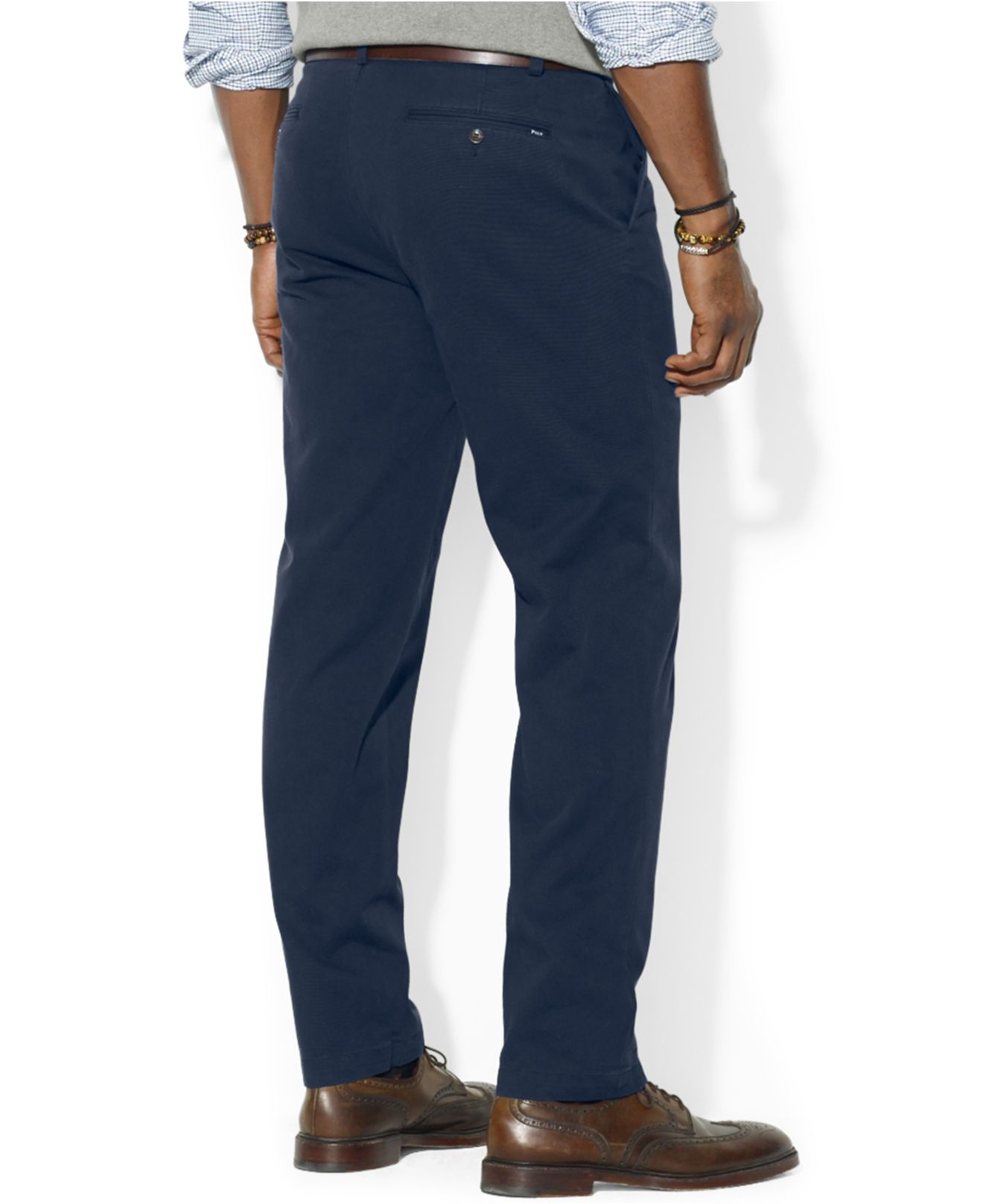 Pants For Classic Lauren Blue Fit Ralph Chino Men Suffield Front Polo Flat WEIH9YD2