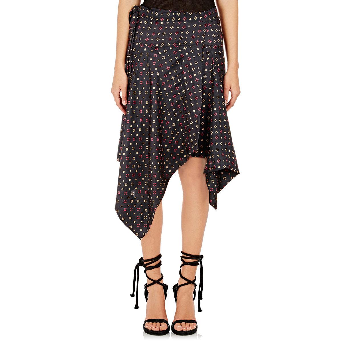 50714ba86e Isabel Marant Women's Silk Twill Treva Skirt in Black - Lyst