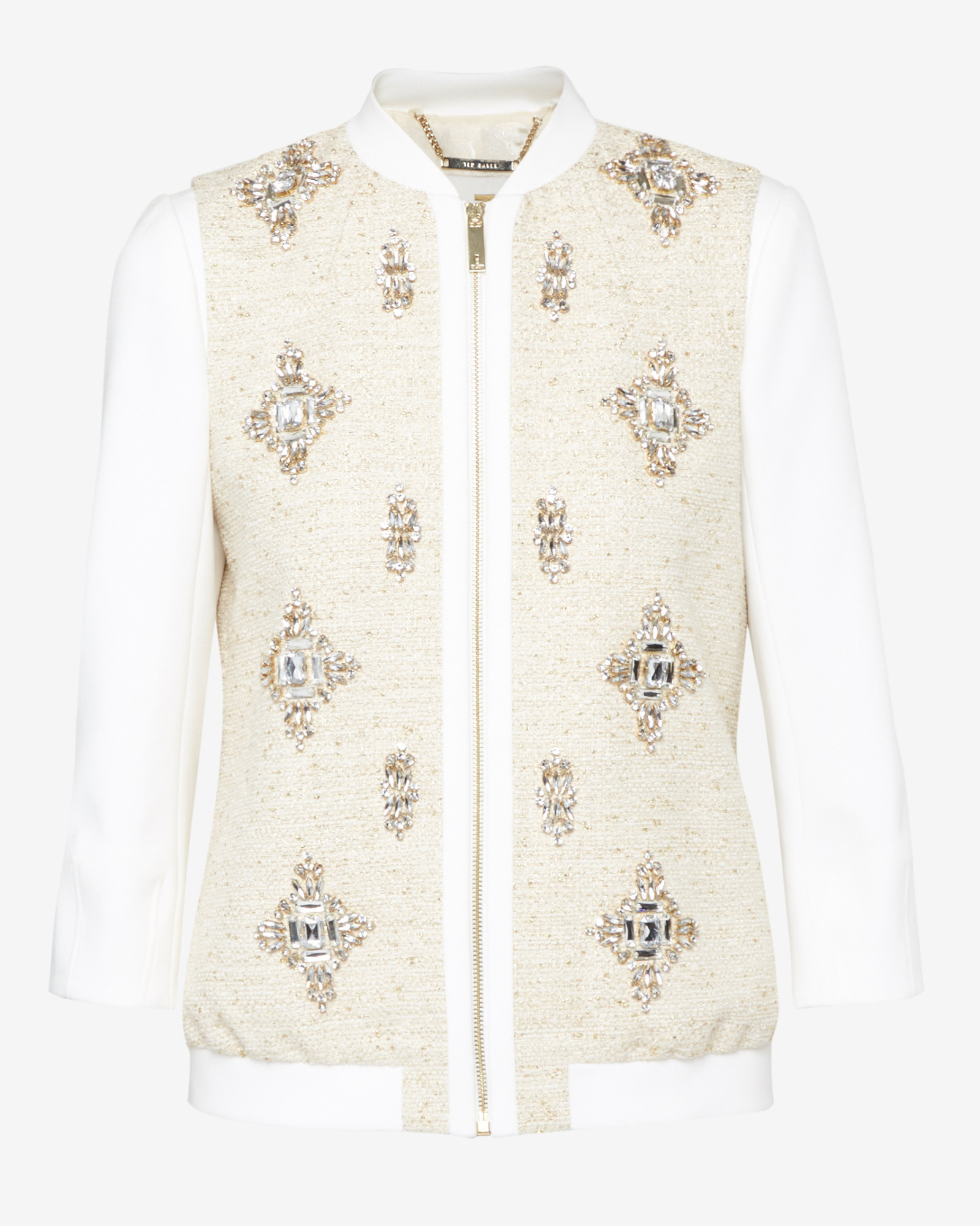 306f5367d Ted Baker Natural Embellished Bomber Jacket