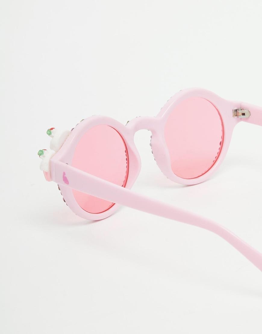 Yum Sunglasses  spangled strawberry cupcake yum yum sunglasses in pink lyst