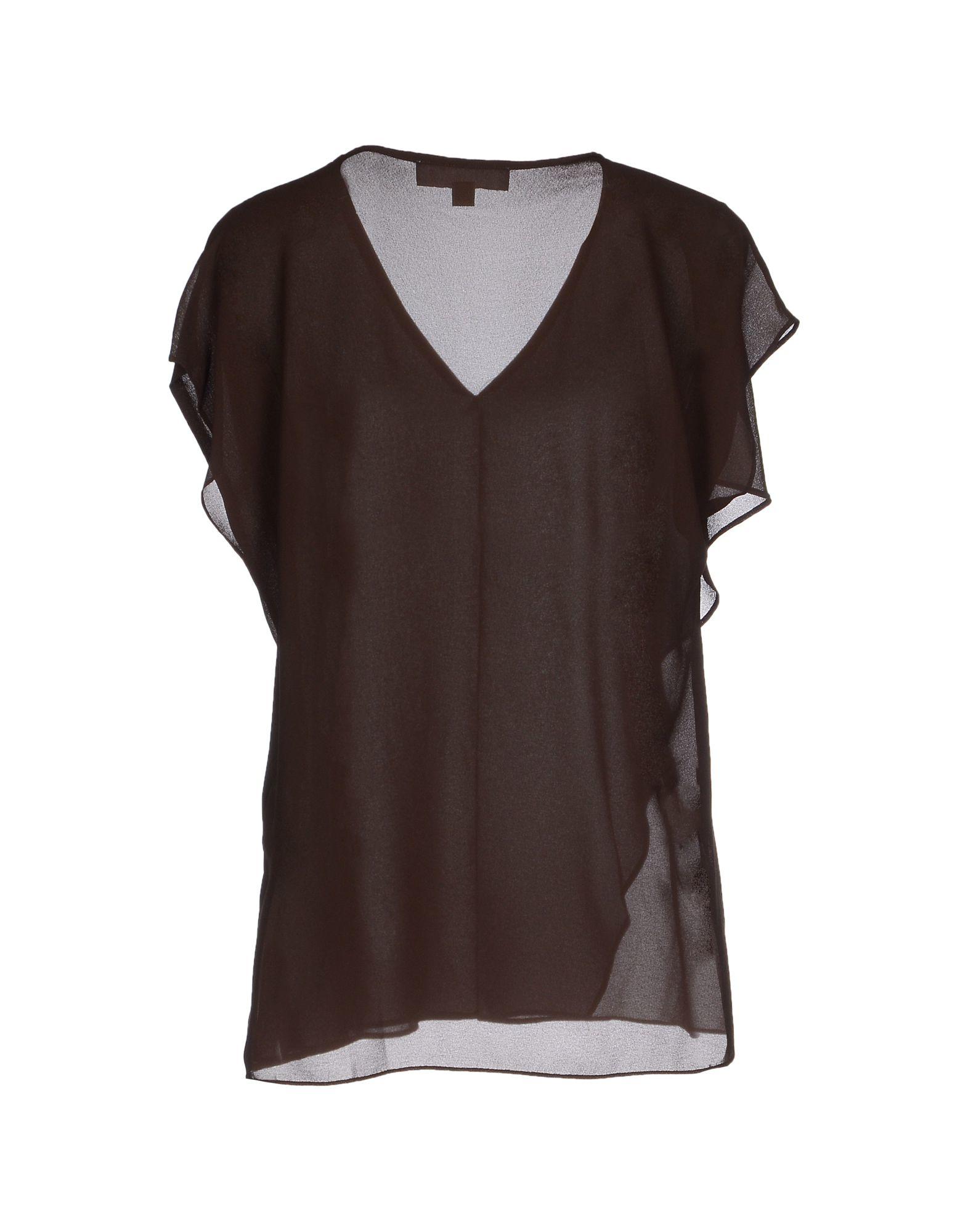 michael michael kors blouse in brown lyst. Black Bedroom Furniture Sets. Home Design Ideas