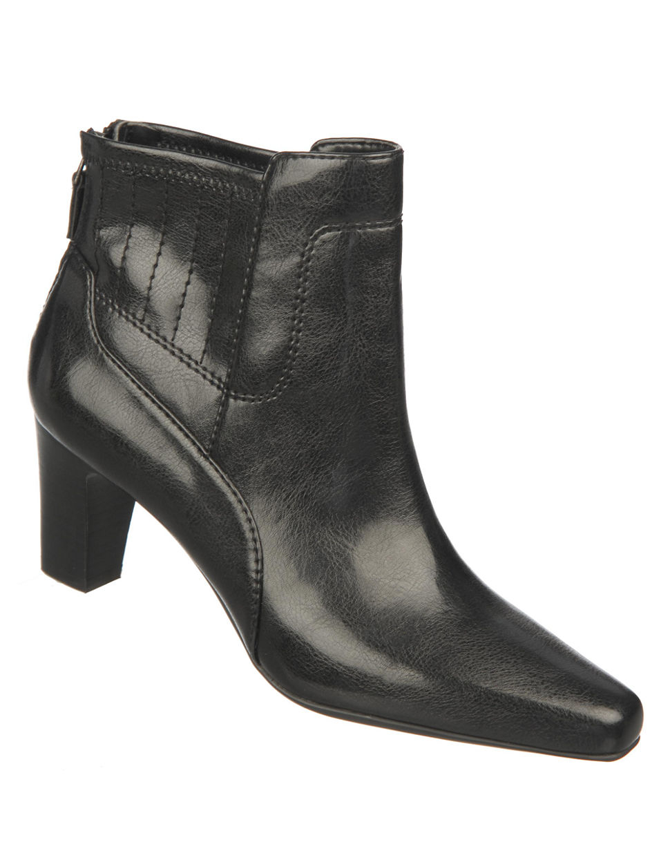 franco sarto test faux leather ankle boots in black lyst