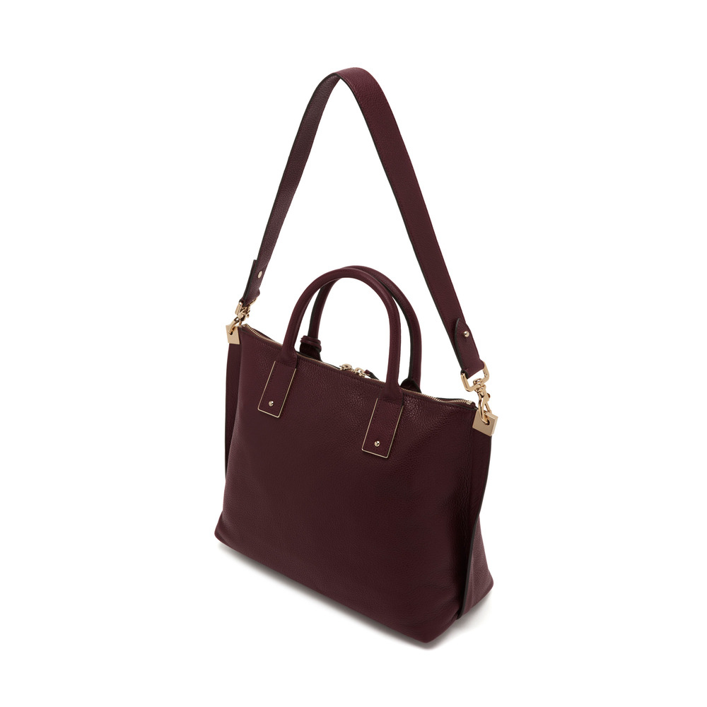 dd0e2dfc9670 ... best price mulberry small alice zipped leather tote in purple lyst  805c2 d7c41