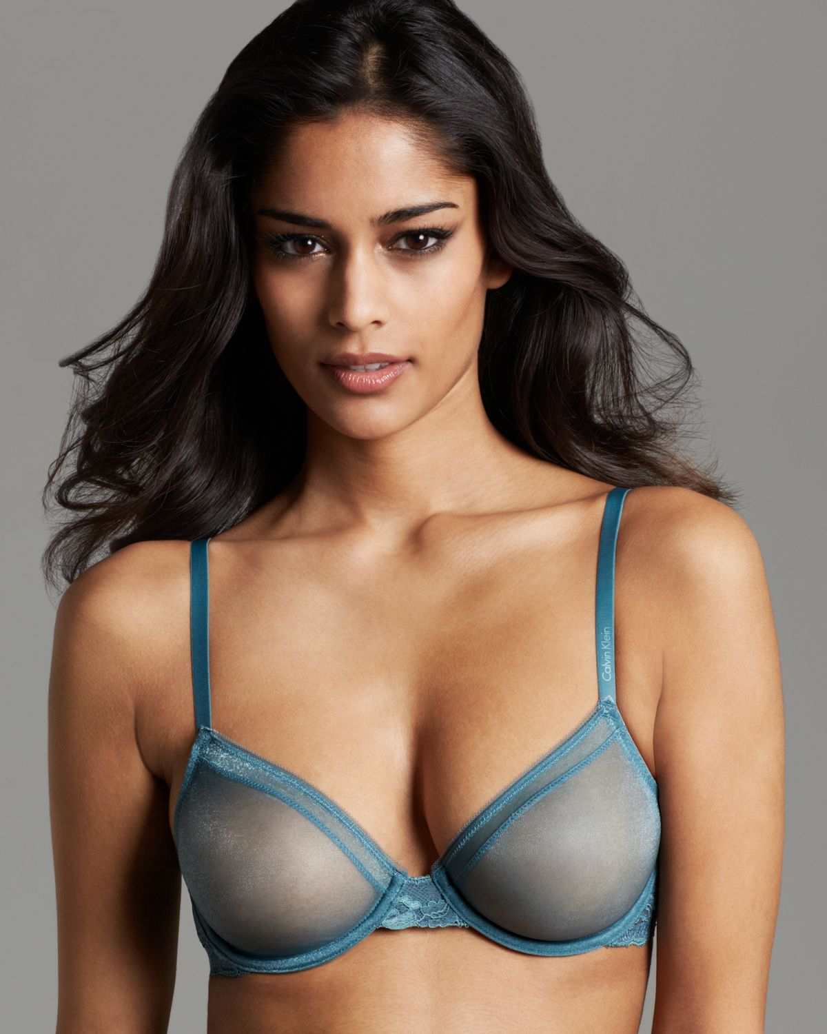 cfbe348af28c8 Lyst - Calvin Klein Bra Luster Bare Unlined Underwire in Blue