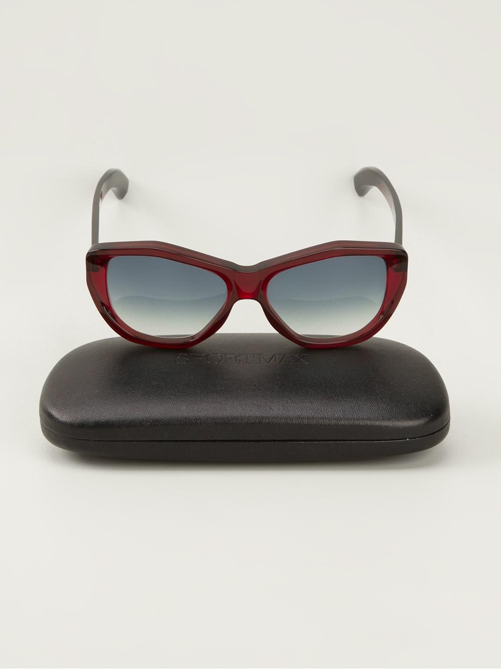 Sportmax Sculptured Cat Eye Sunglasses