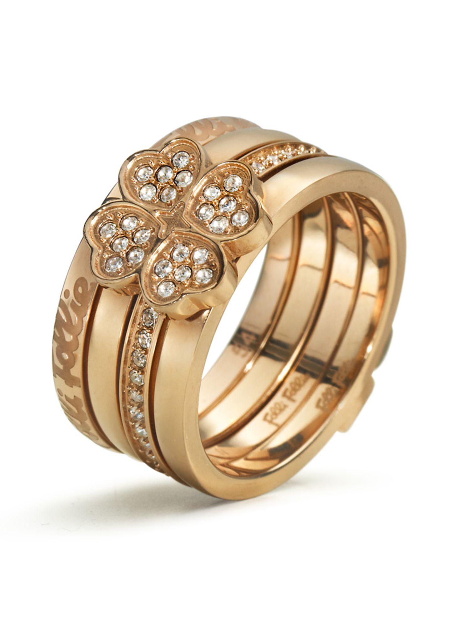 Folli follie Eternal Heart Ring in Pink (Rose Gold)