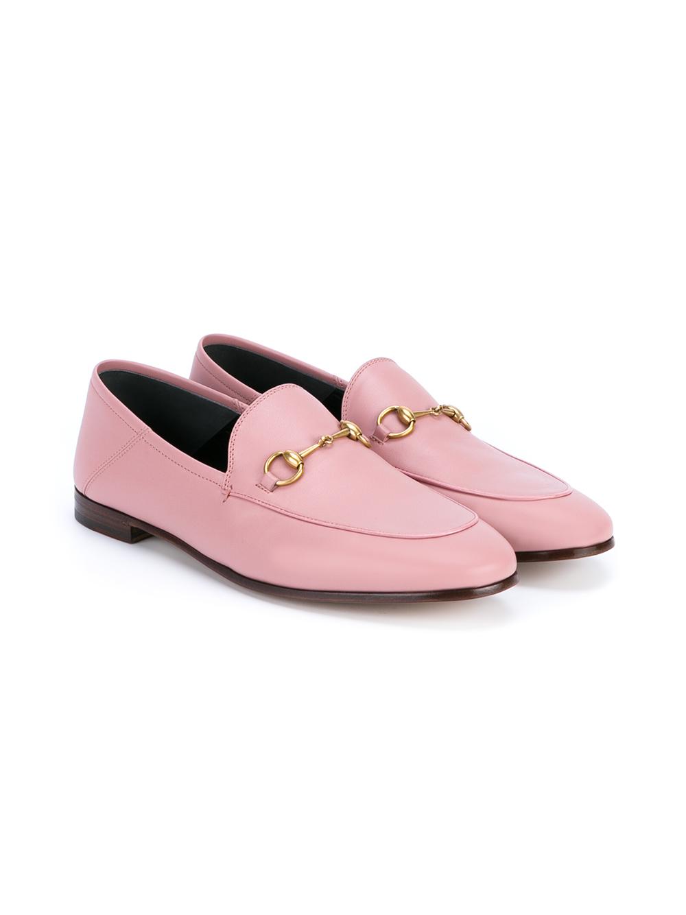 c1ce03181798 Lyst - Gucci Jordaan Horsebit Loafers in Pink