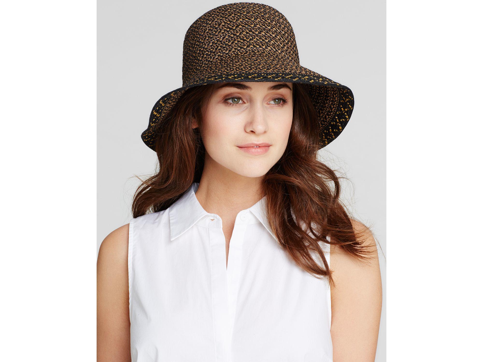 6474bfc27a70e Eric Javits Becca Short Brim Sun Hat in Black - Lyst
