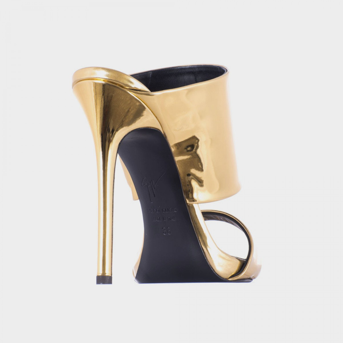 giuseppe zanotti gold mirror leather coline110 sandals in. Black Bedroom Furniture Sets. Home Design Ideas