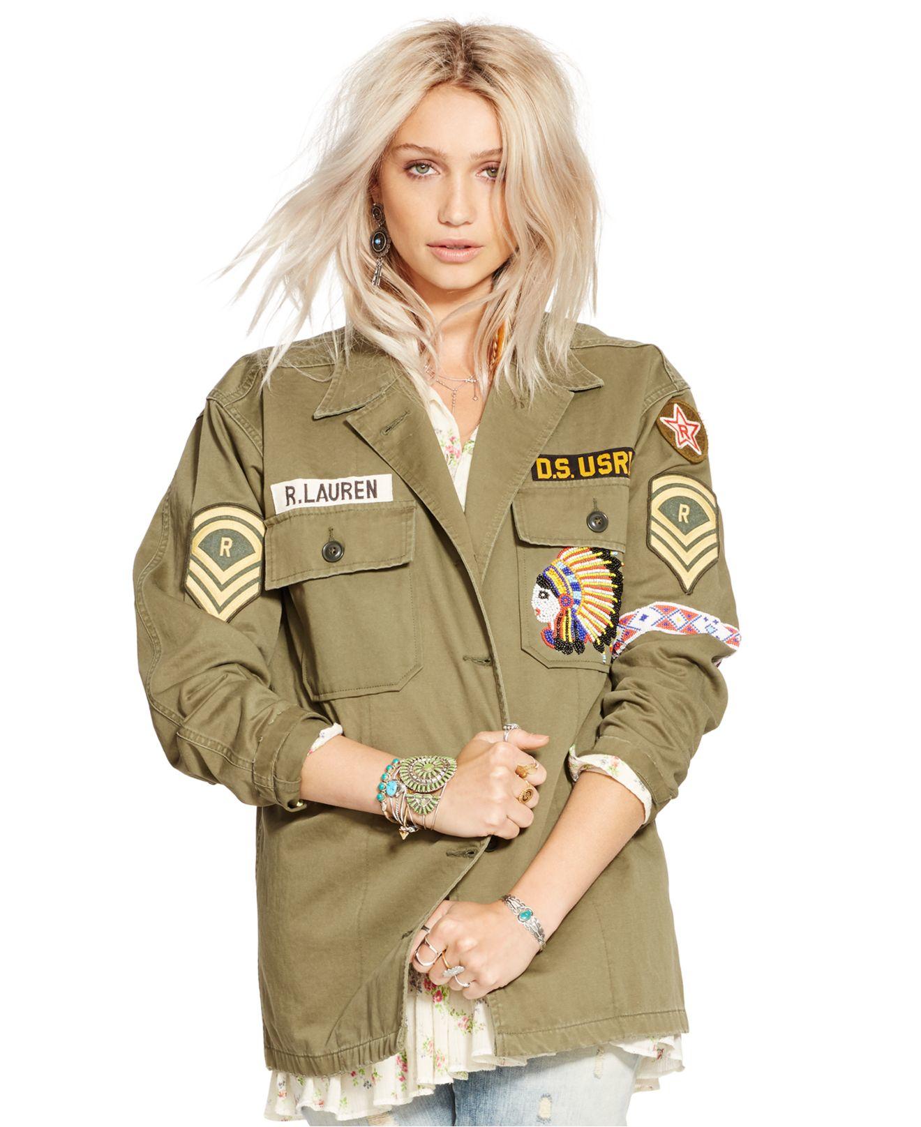 c9956506c Denim   Supply Ralph Lauren Patched Field Jacket in Green - Lyst