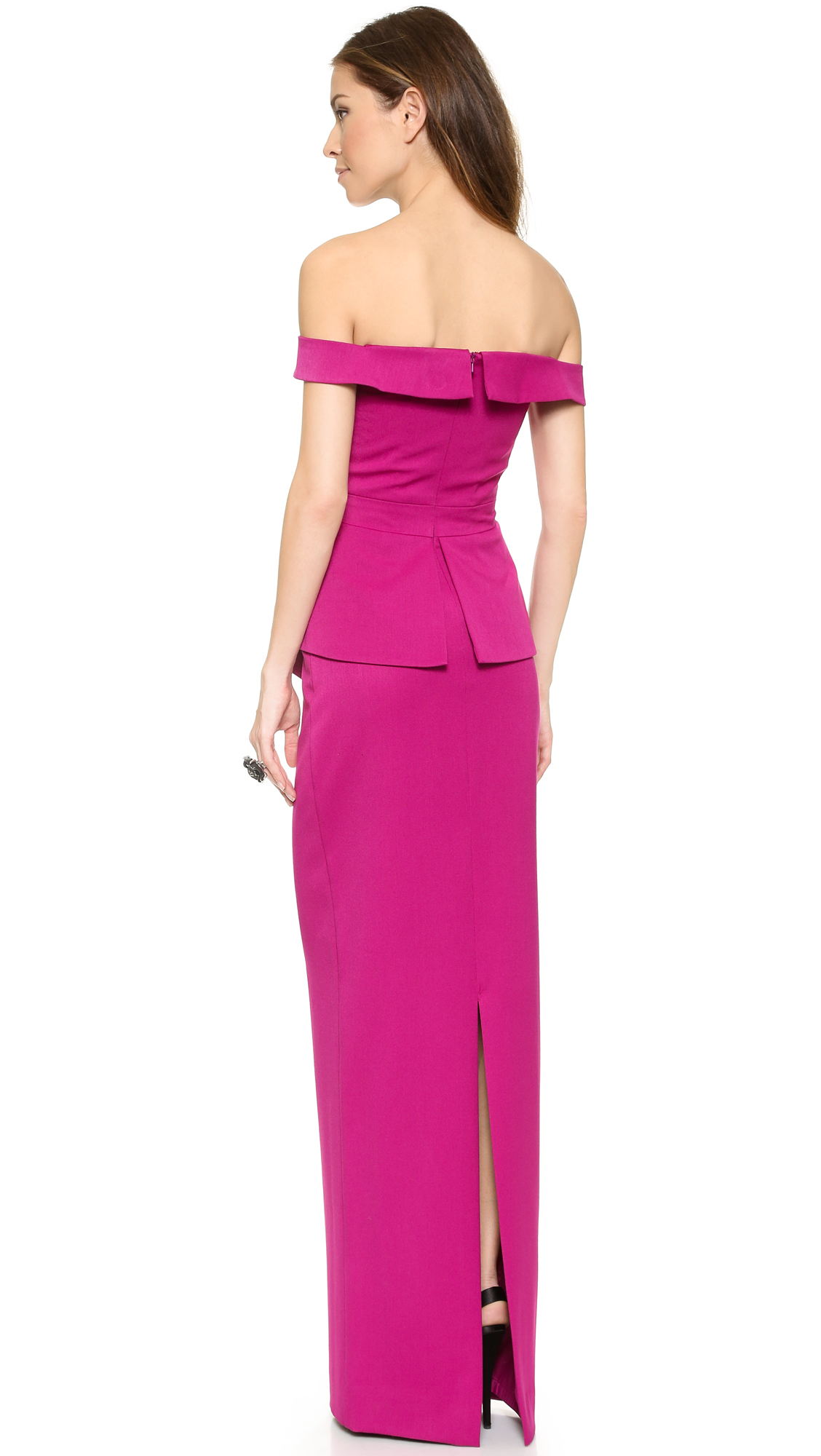 Lyst - Black Halo La Reina Gown in Purple