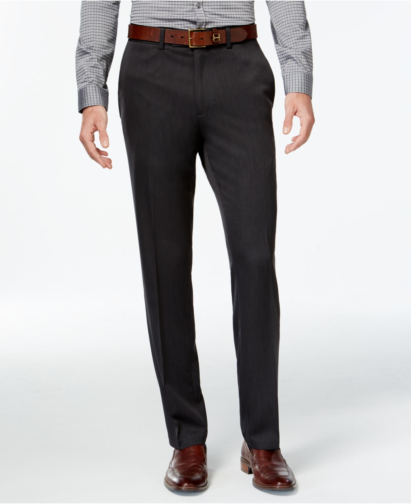 Men's Slim-Fit Belted Dress Pants. Pair these dress pants with a white shirt, sport coat, and Oxford shoes to create a look great for a business meeting/5(67).