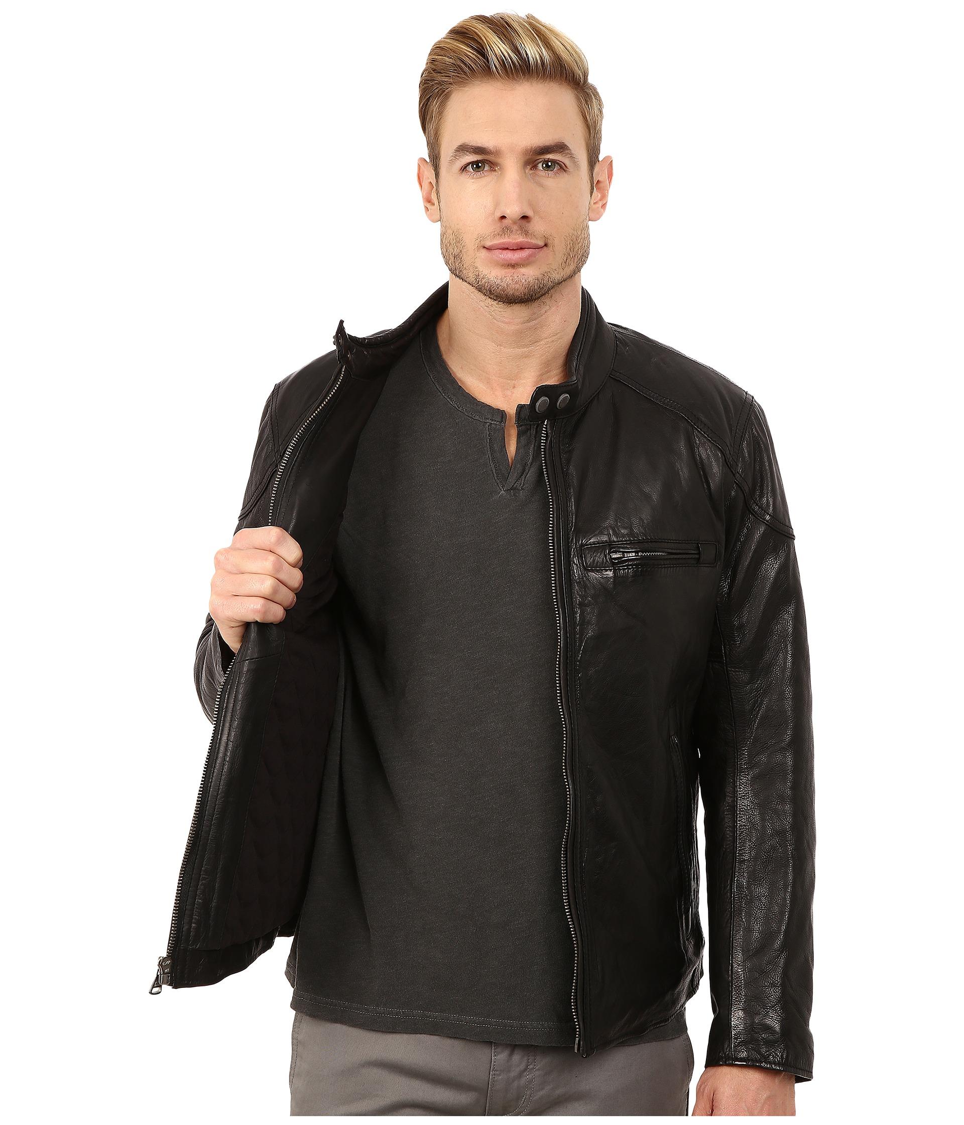Marc new york mac lightweight calf moto jacket w chest for Travel shirts with zipper pockets