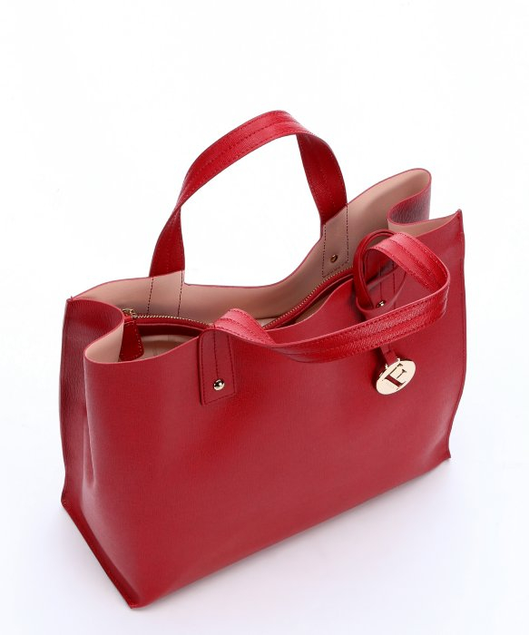 Furla Cabernet Leather 'Musa' Medium Tote Bag in Red   Lyst