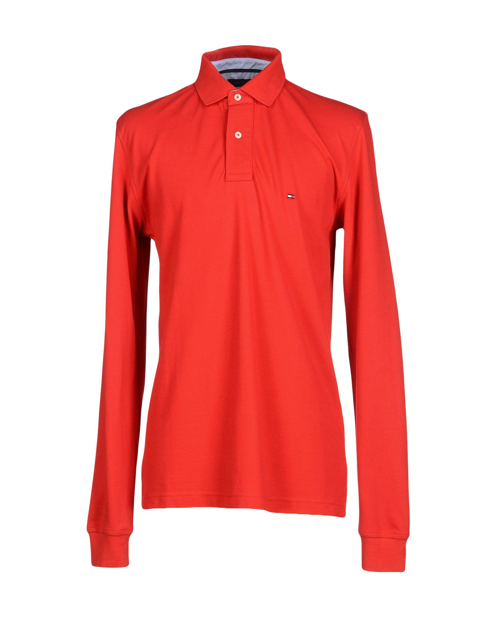 Lyst tommy hilfiger polo shirt in red for men for Cheap coaches polo shirts