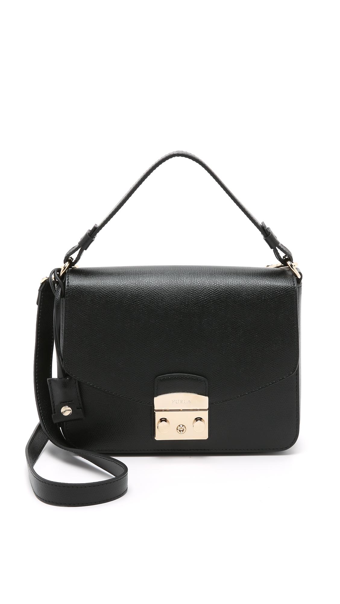 Furla Metropolis Small Shoulder Bag in Black - Lyst e3e2baa4d8e35