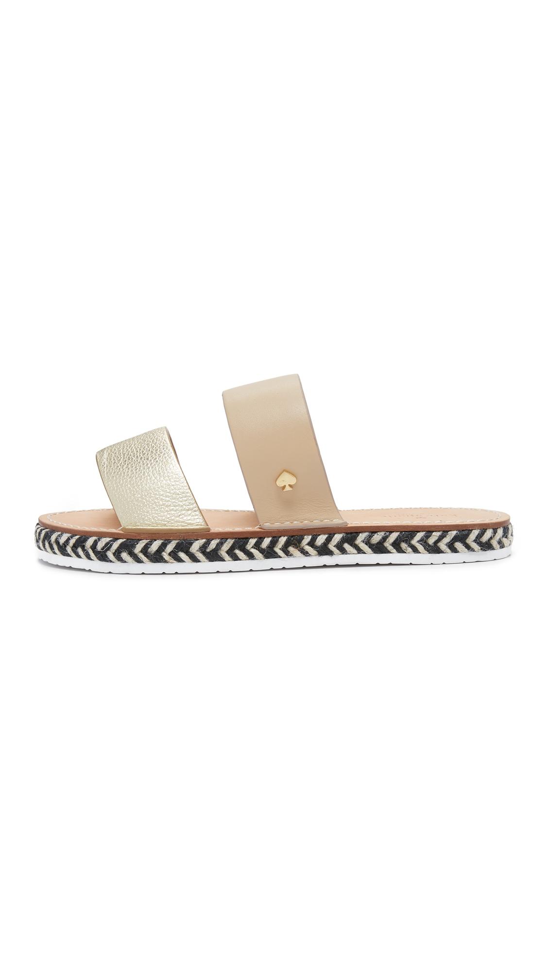 Kate spade new york Idreena Slide Sandals in Black | Lyst