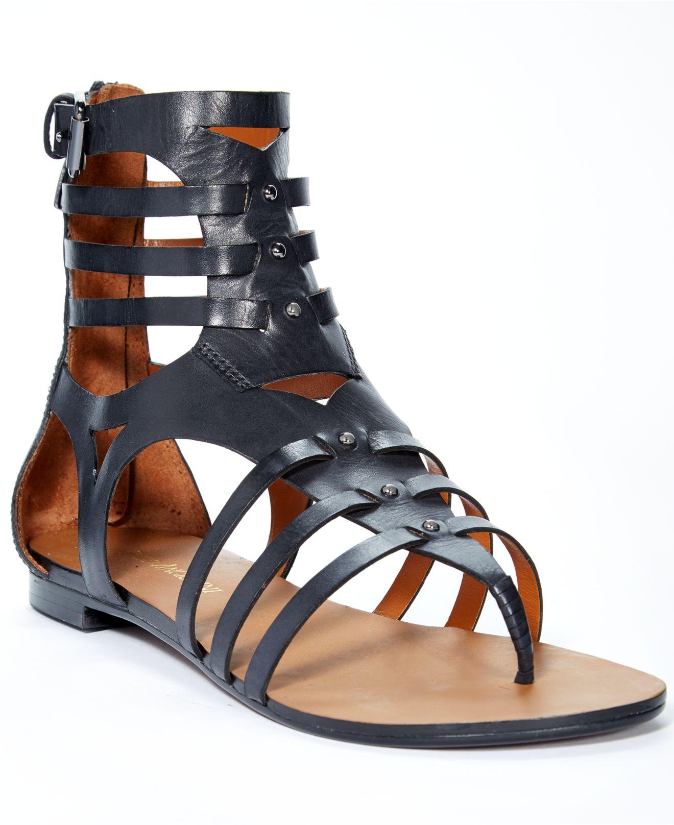 4fbe3b396b6 Lyst - Enzo Angiolini Makayla Gladiator Sandals in Black