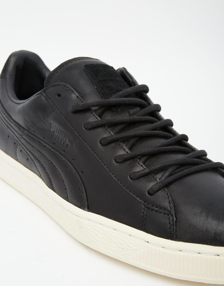 Lyst - PUMA Basket Leather Citi Trainers in Black for Men 898904dddad8