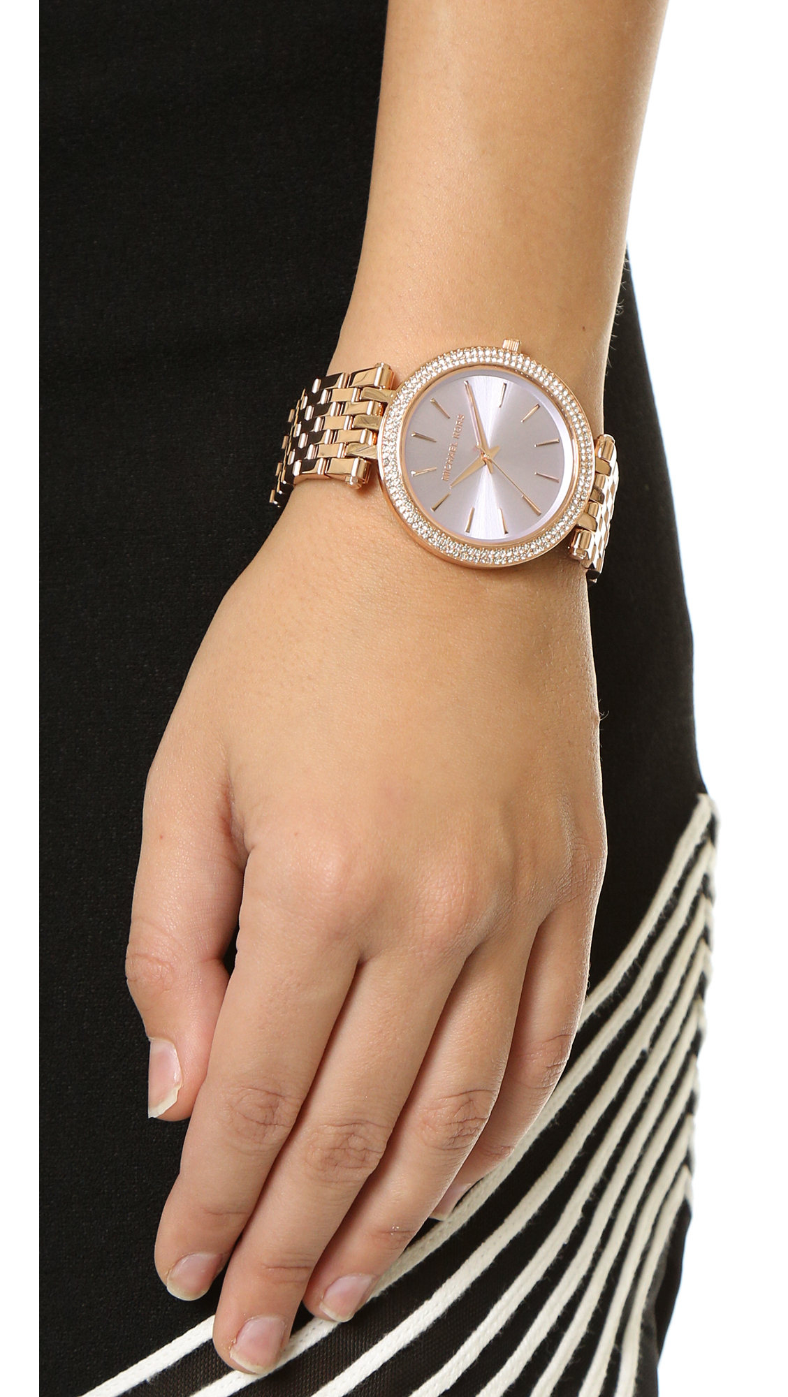 83adef4d84b3 Lyst - Michael Kors Darci Watch - Rose Gold Lavender in Pink