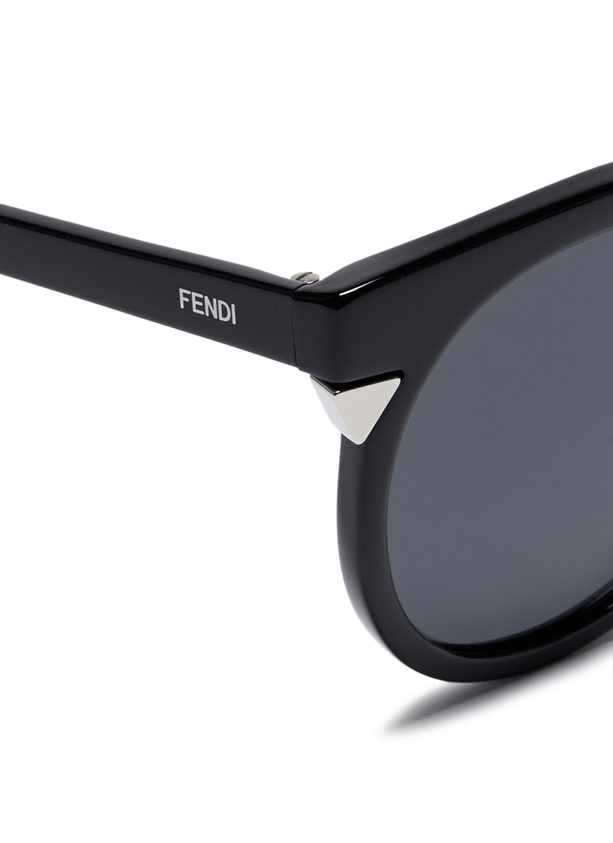 13ef0a0a26 Fendi Black Round Sunglasses