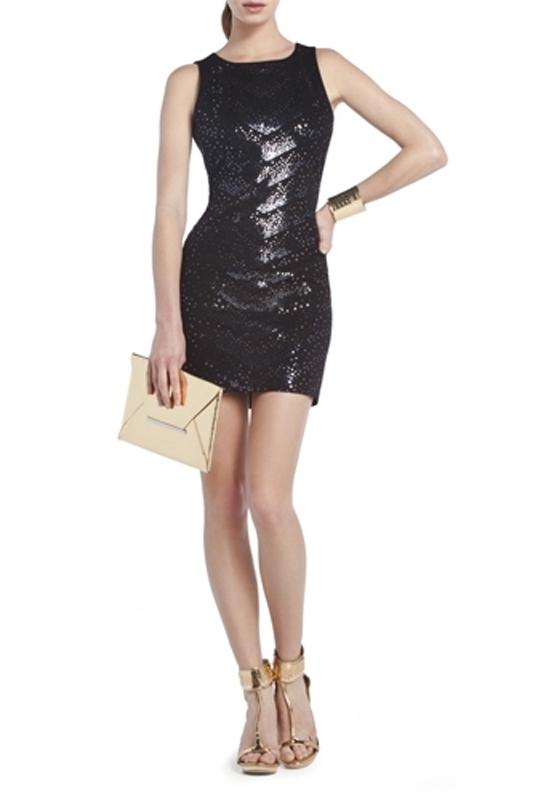 Bcbgmaxazria Bcbg Enna Sequined Cocktail Dress In Black Lyst