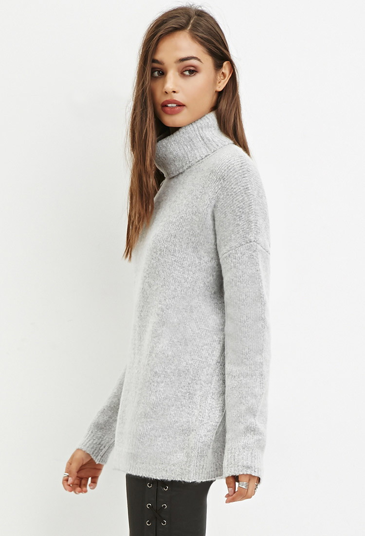 Forever 21 Fuzzy Turtleneck Sweater You've Been Added To The ...