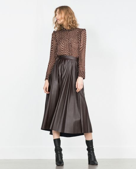 Zara Blouse With Transparent Frills 70
