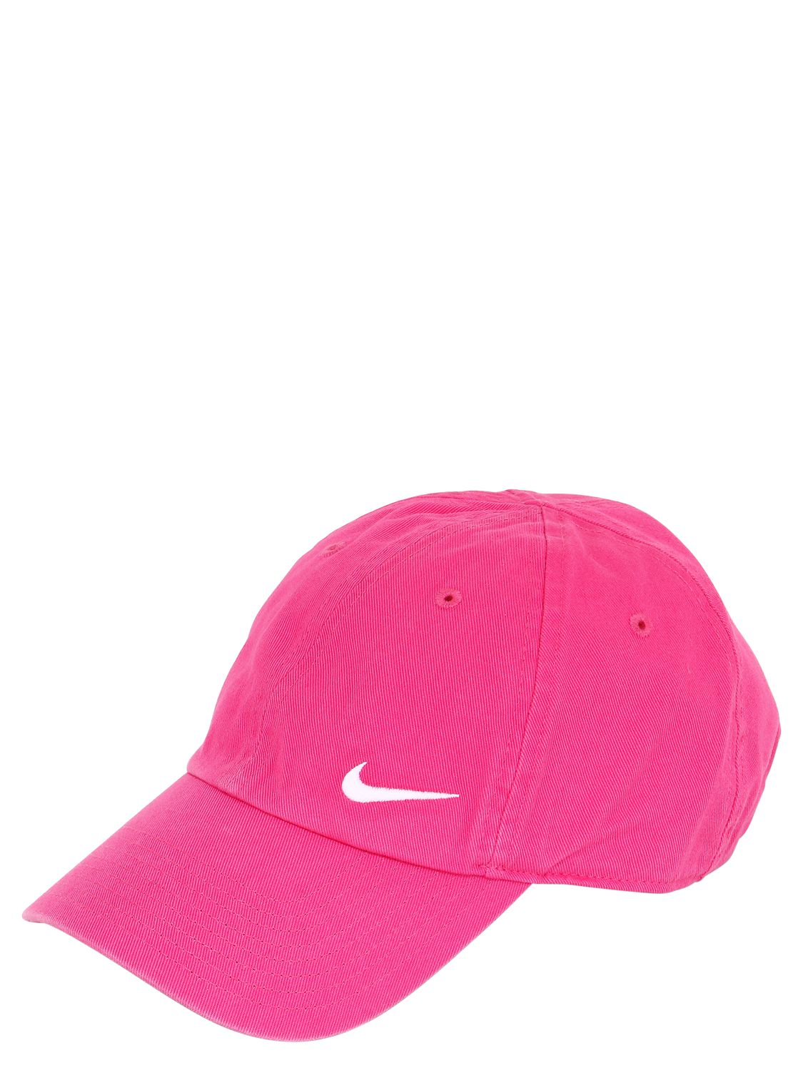 Nike Swoosh Cotton Baseball Hat in Pink - Lyst a7d47d4f2d6