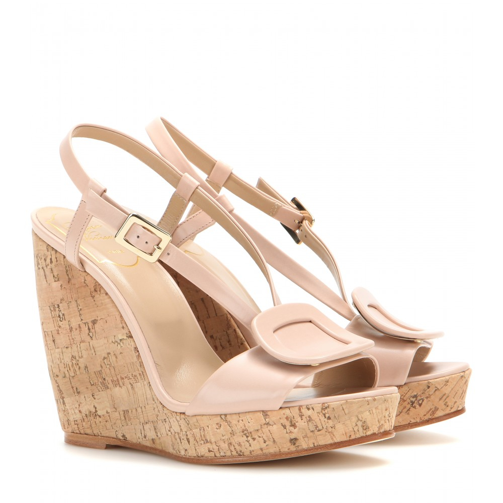 many kinds of cheap online Roger Vivier Leather Platform Wedges cheap perfect cheap authentic outlet cheap outlet locations collections online FGiXXYf