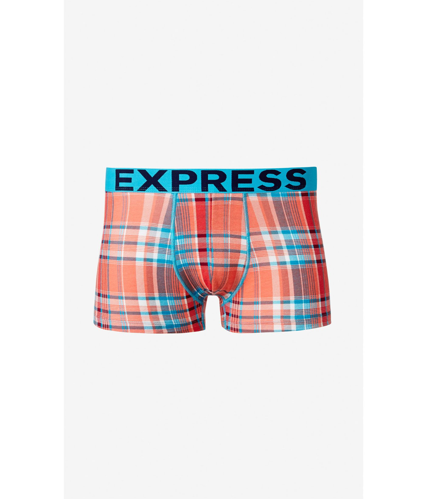 Lyst - Express Multicolor Plaid Knit Sport Trunks in Orange for Men 1e17093da10