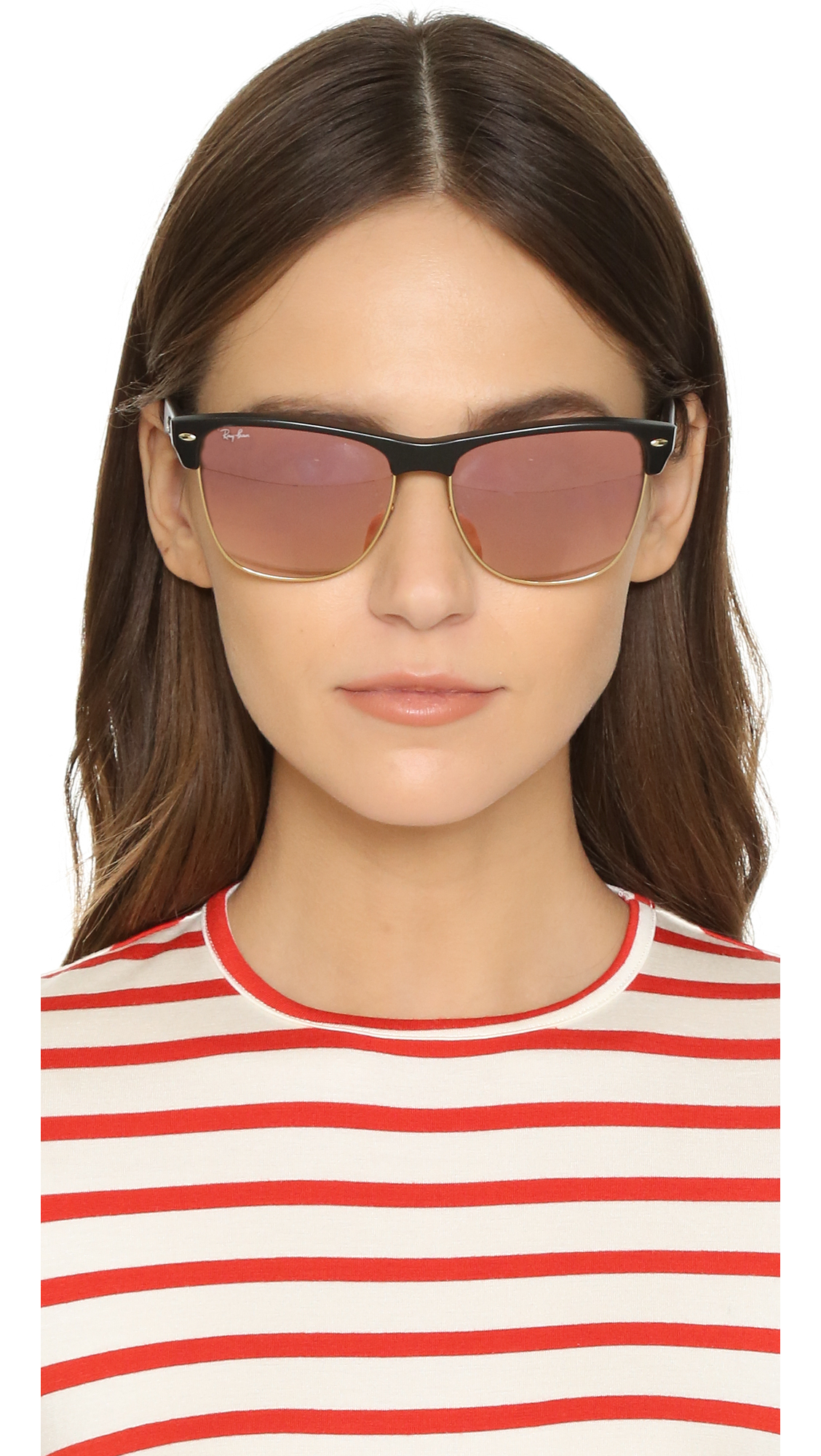4089aa8482f5 ... best lyst ray ban oversized mirrored clubmaster sunglasses in black  5e699 09546