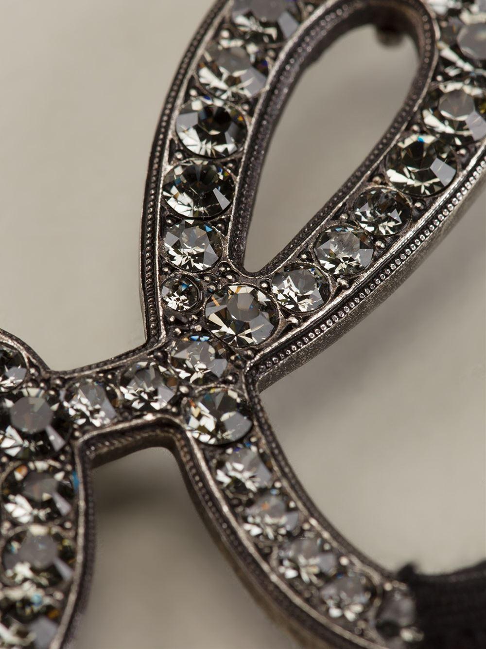 Lanvin Love Necklace in Metallic (Grey)