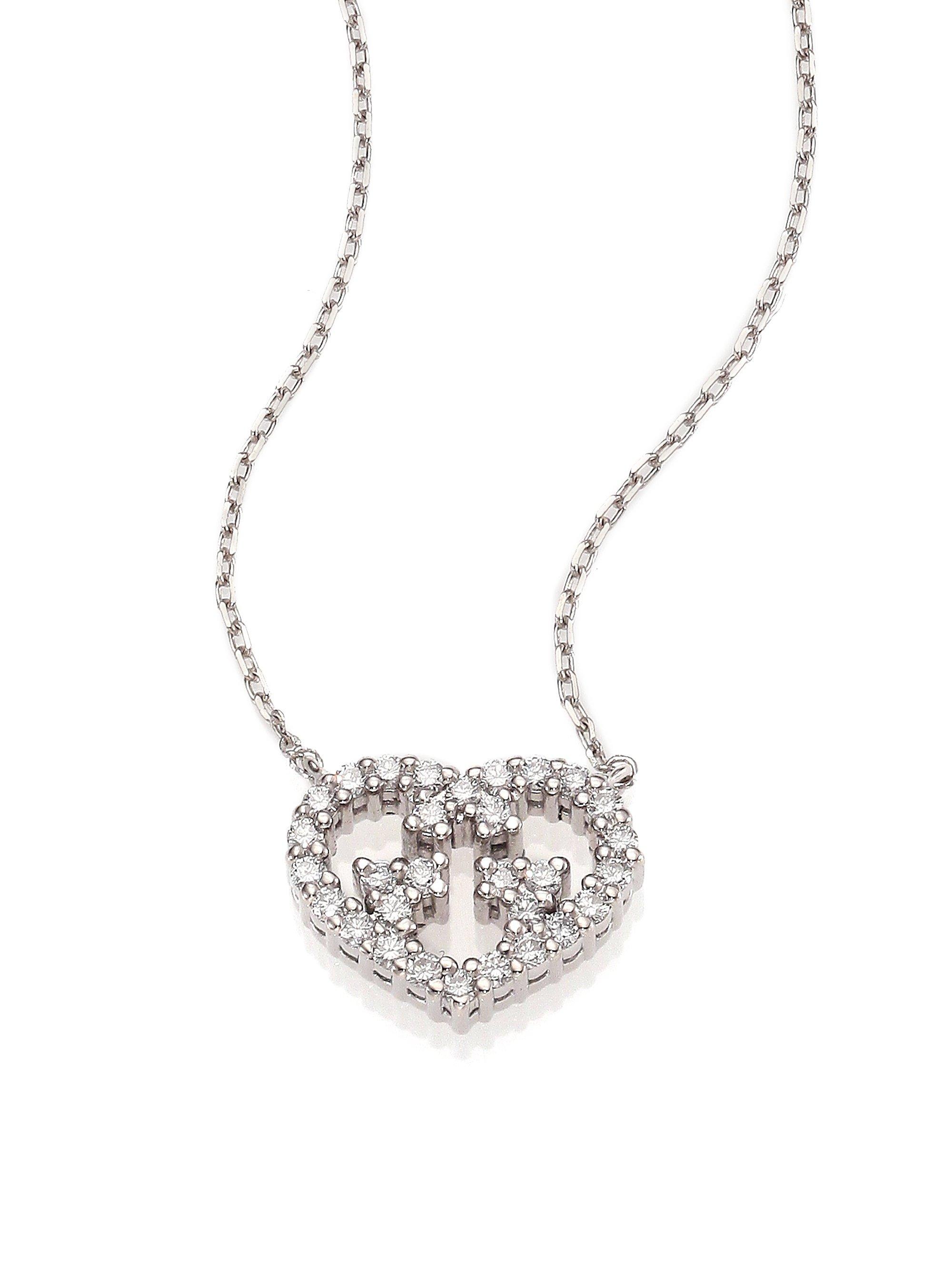 Gucci Love Britt Diamond & 18k White Gold Pendant Necklace in