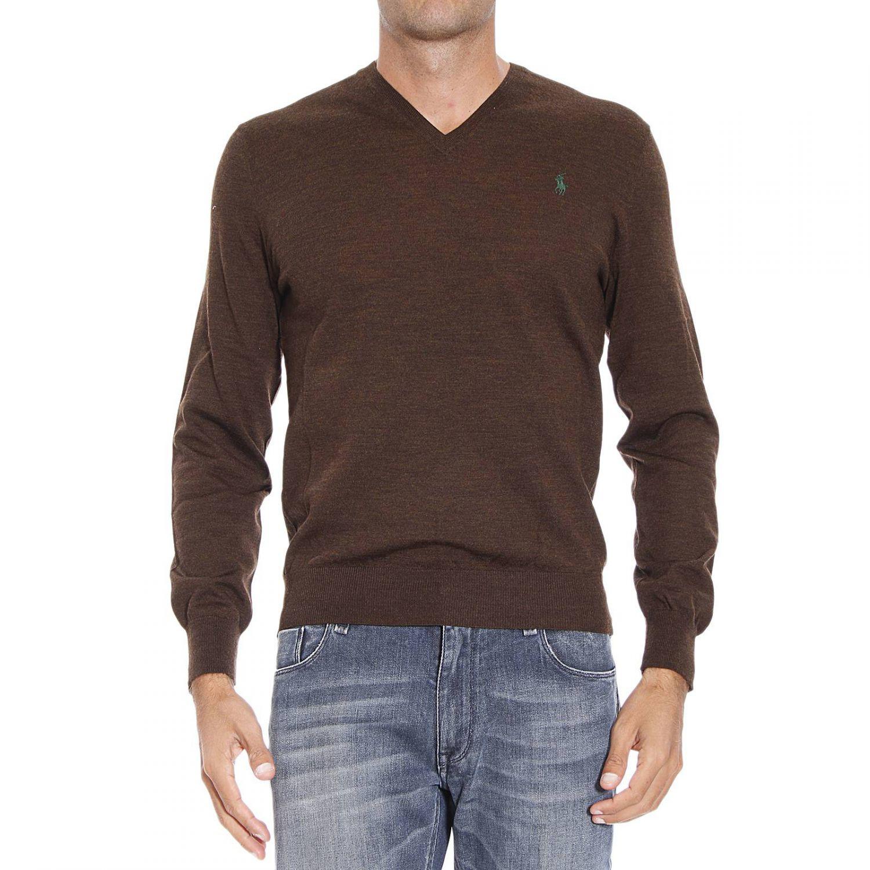 polo ralph lauren sweater in brown for men lyst. Black Bedroom Furniture Sets. Home Design Ideas
