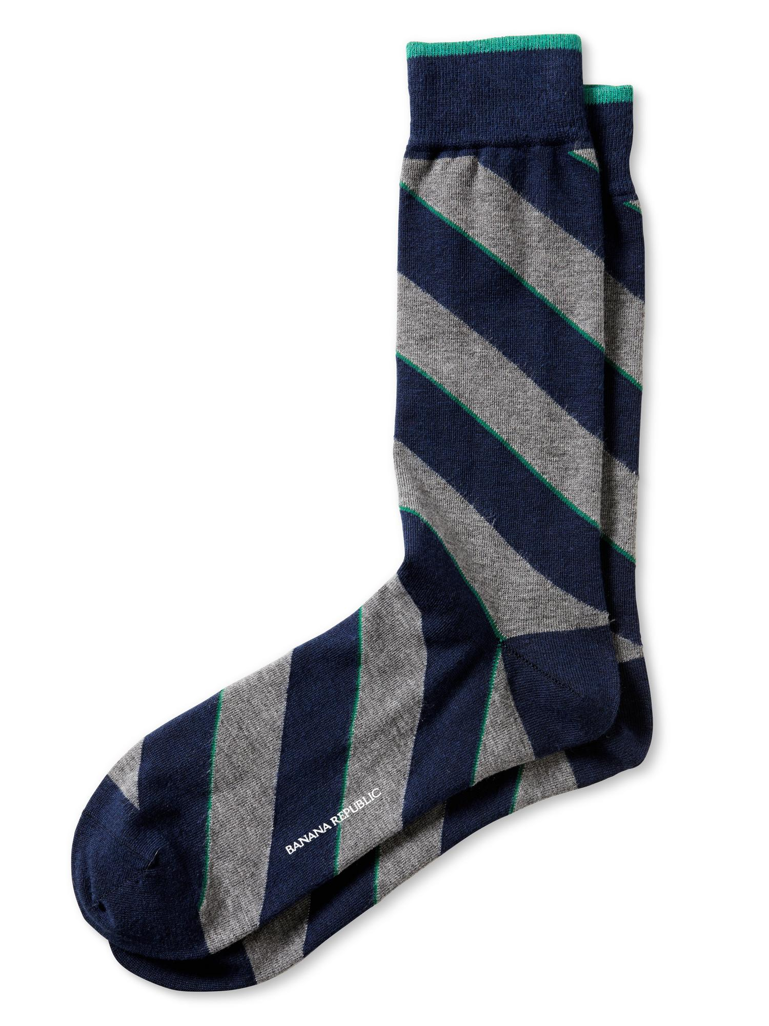 banana republic luxe tie sock navy in blue for navy