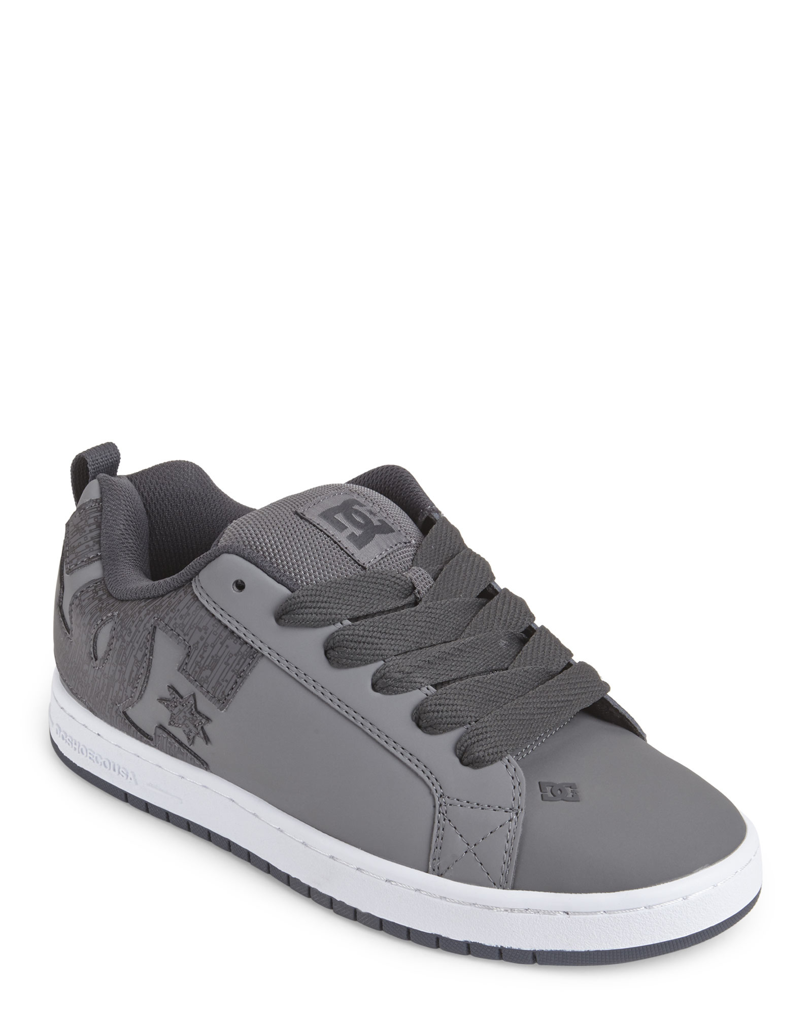 new styles 0c9bd 925c9 Lyst - DC Shoes Grey Court Graffik Skate Sneakers in Gray