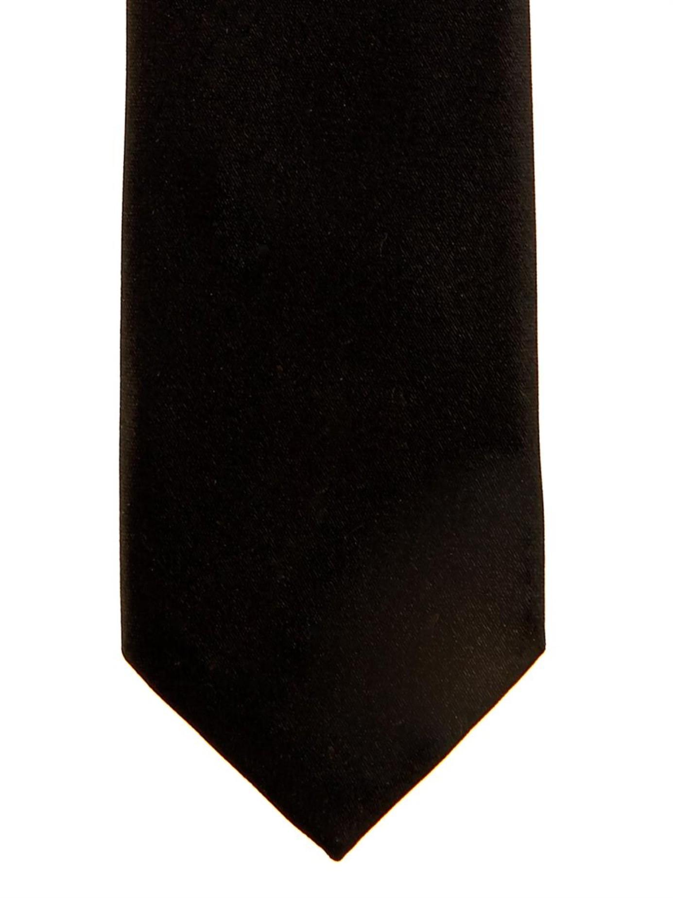 balenciaga silk satin tie in black for lyst