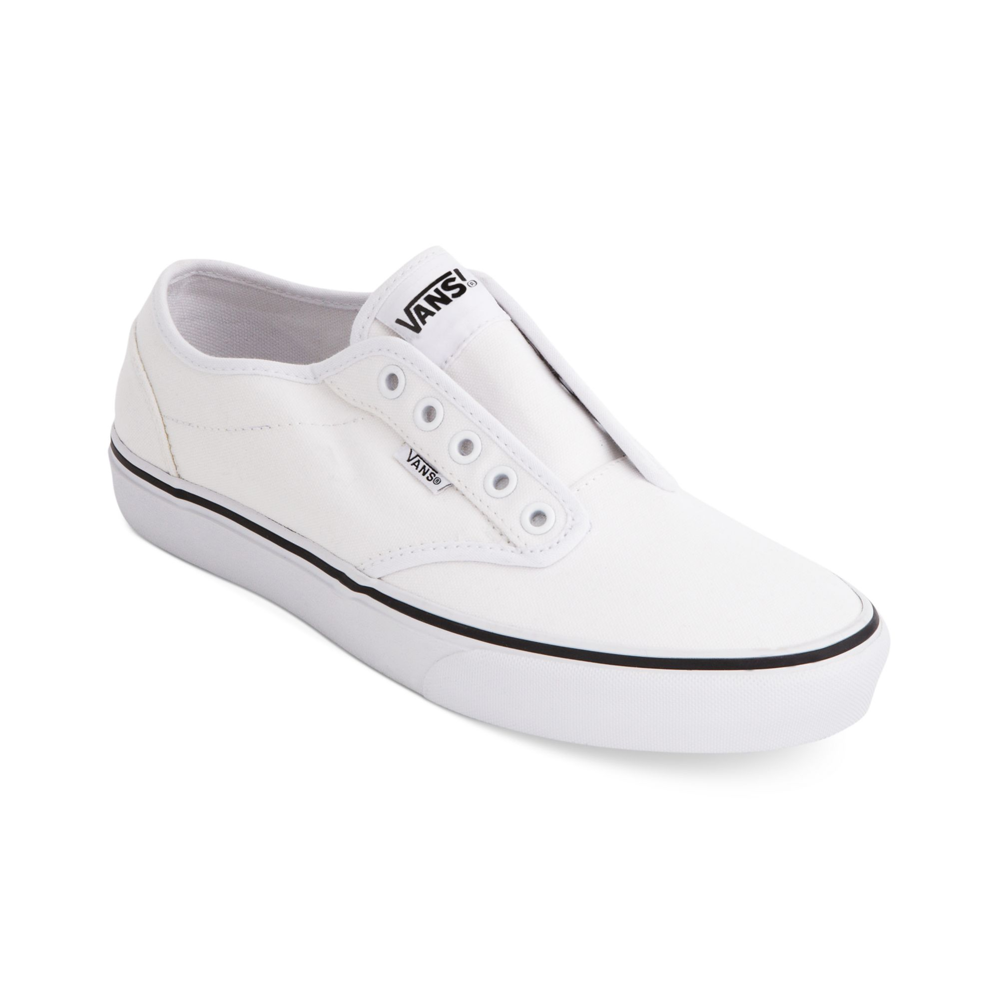 Vans Atwood Laceless Sneakers in White