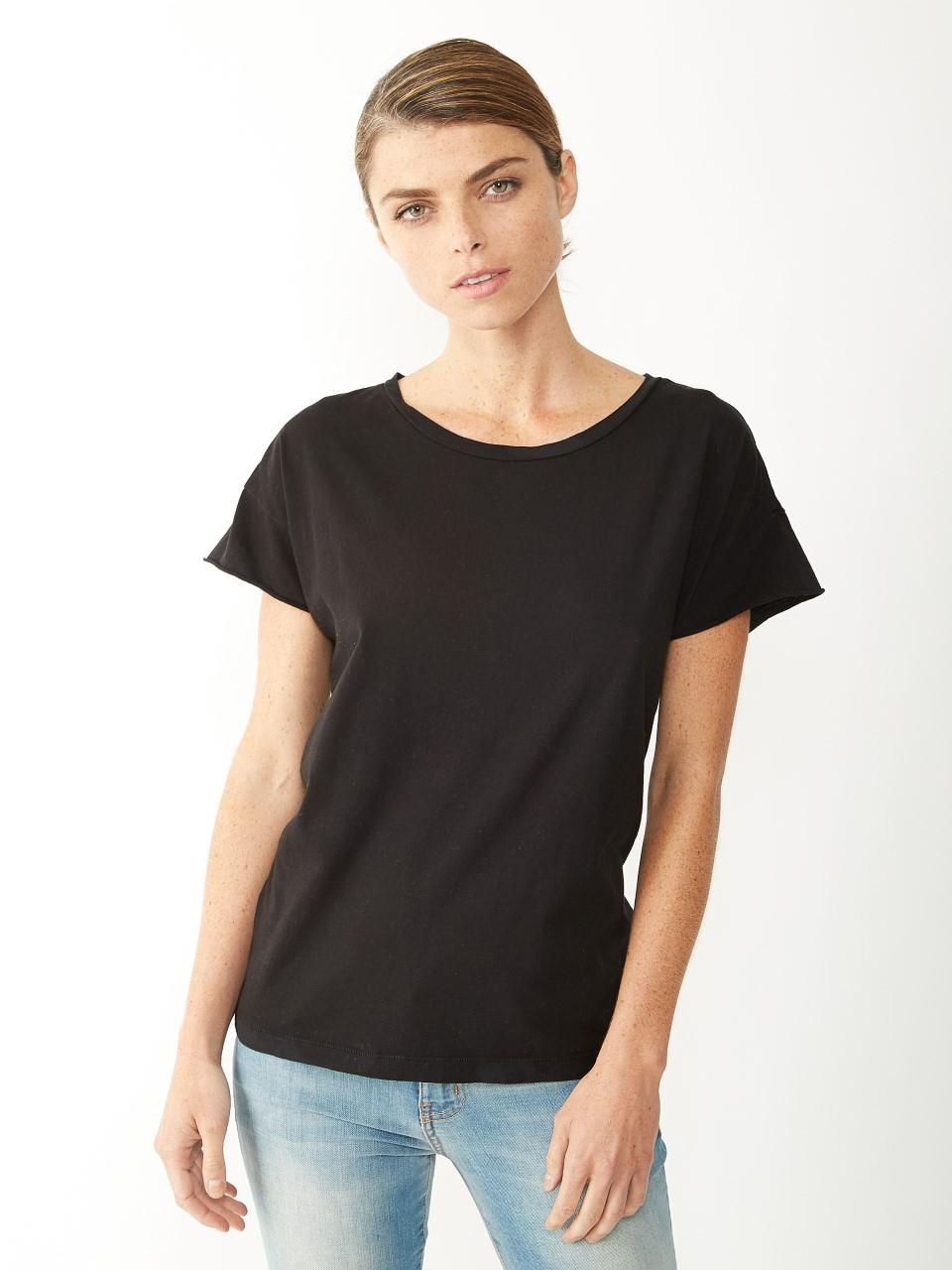 alternative apparel rocker t shirt in black lyst