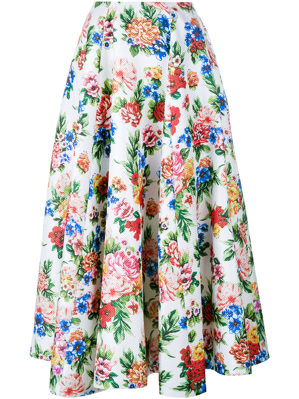Emilia wickstead Floral A-line Skirt in Pink | Lyst