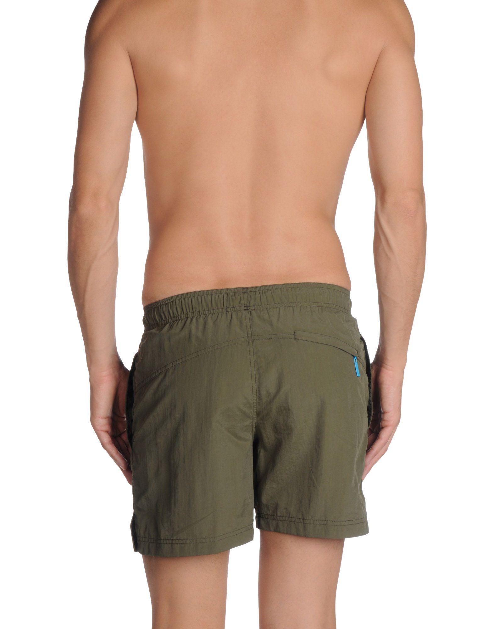 lyst calvin klein swim trunks in green for men. Black Bedroom Furniture Sets. Home Design Ideas