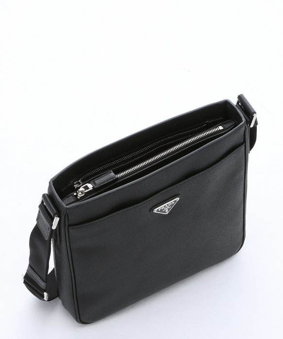 prada wallet in malaysia - Prada Black Saffiano Leather Messenger Bag in Black for Men | Lyst