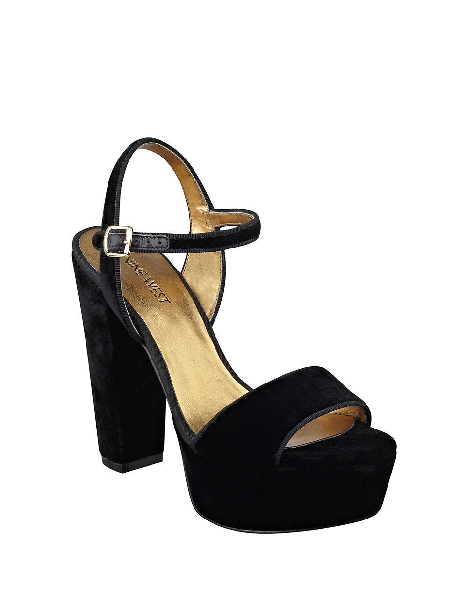6ce00efc45d1 Nine West Carnation Platform Sandals in Black - Lyst